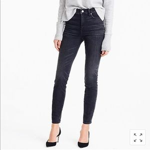 "J crew 9"" high rise toothpick jean in charcoal 26"